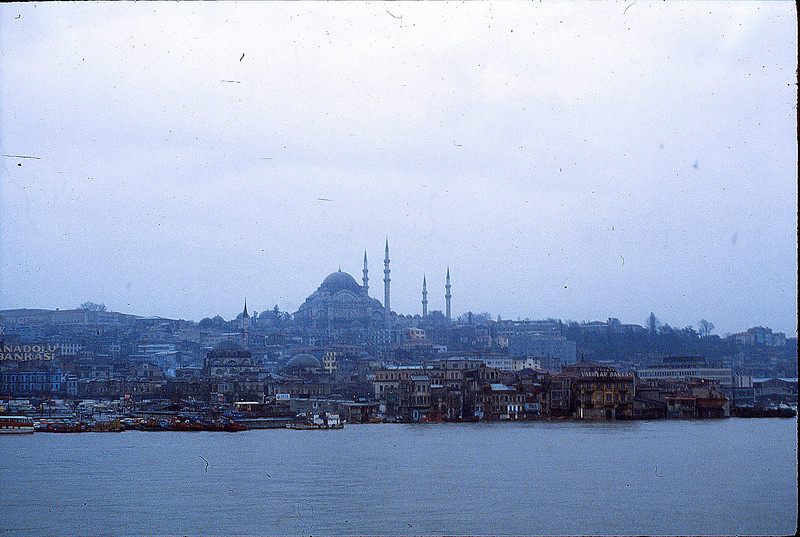 Leaving Istanbul on the Canakkale ferry, January 2, 1980