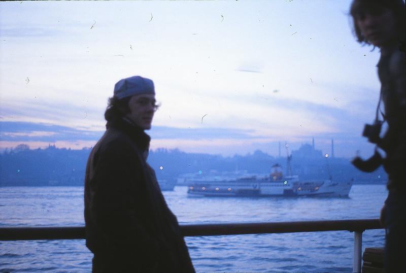 Paul on the Istanbul - Canakkale ferry, January 2, 1980