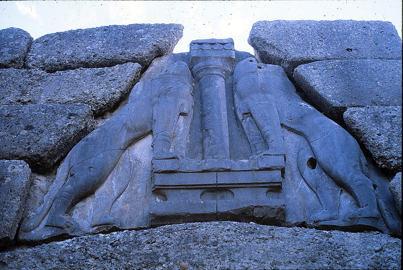 Lion gate, Mycenae, December 17, 1979