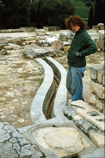 Beth at Knossos, January 14, 1980
