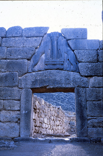 Lion gate, Mycenae, December 17, 1979