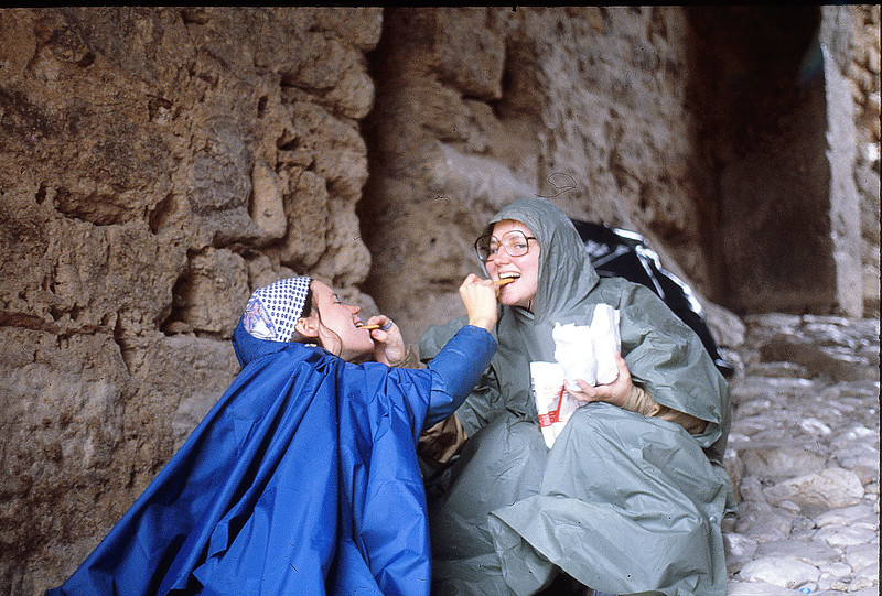 Annie and Margie at Acrocorinth, December 15, 1979