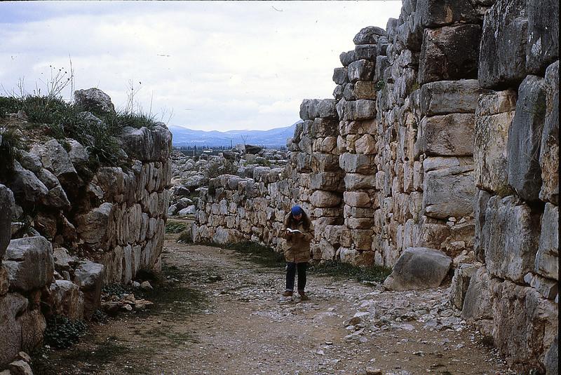 Margie at Tiryns, December 17, 1979