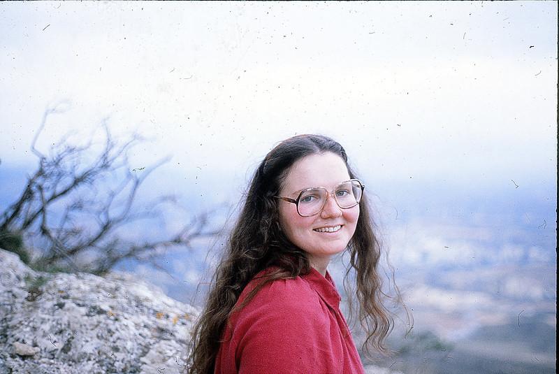 Margie at Acrocorinth, December 15, 1979