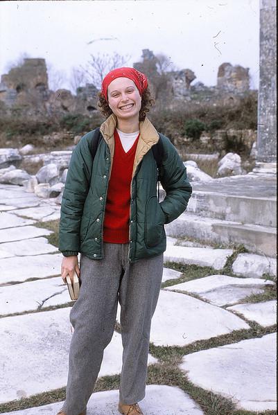 Beth at Knossos, January 14, 1980