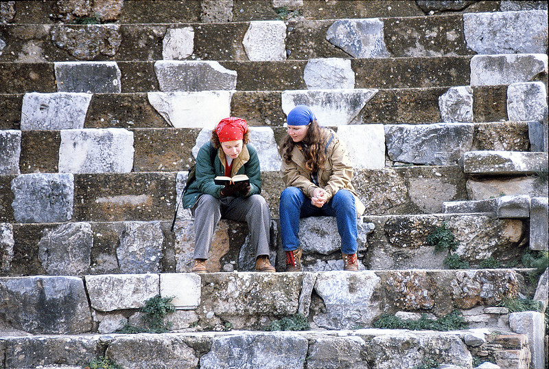 Beth and Margie at Ephesos, January 6, 1980