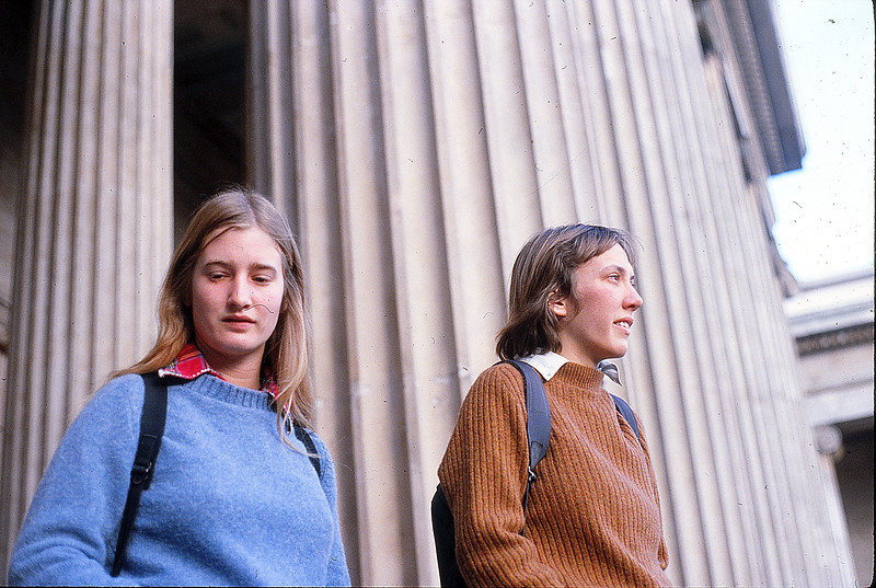 Faith and Liz in London, December 2, 1979.