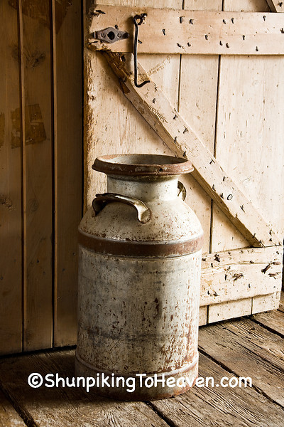 Antique Milk Can, Kruger Farm, Allamakee County, Iowa