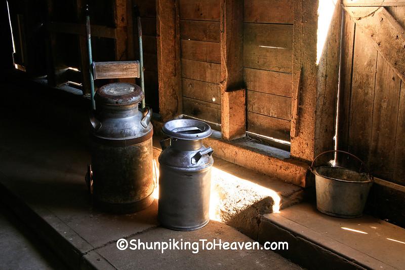 Antique Milk Cans, Jackson County, Iowa