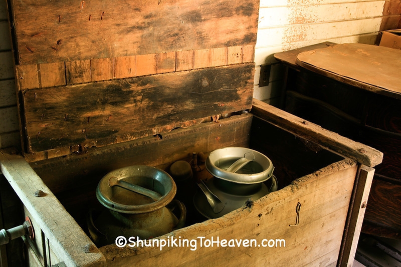 Antique Milk Cans and Cooler, Franklin County, Iowa