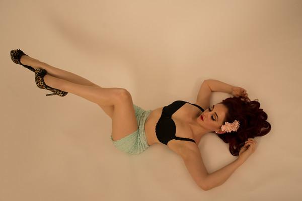 Moxie Valentine in vintage lingerie