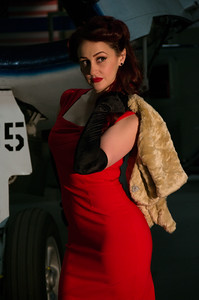 Moxie Valentine in vintage outfit