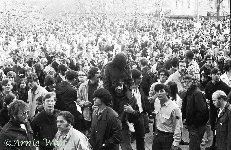 Anti War demonstration, 1970, Champaign, Illinois