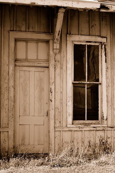 Shack Door and Window Sepia