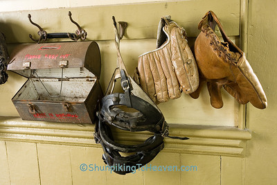 Antique Lunch Box and Baseball Equipment, Elmira School, Red Oak II, Jasper County, Missouri