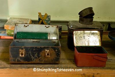 Lunch Buckets at Red Brick School, Washington County, Iowa