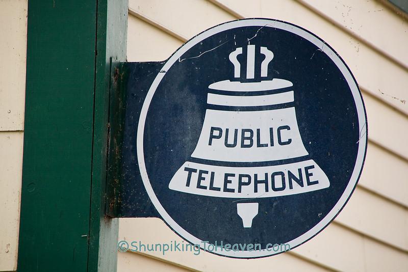 Antique Public Telephone Sign, Trempealeau County, Wisconsin
