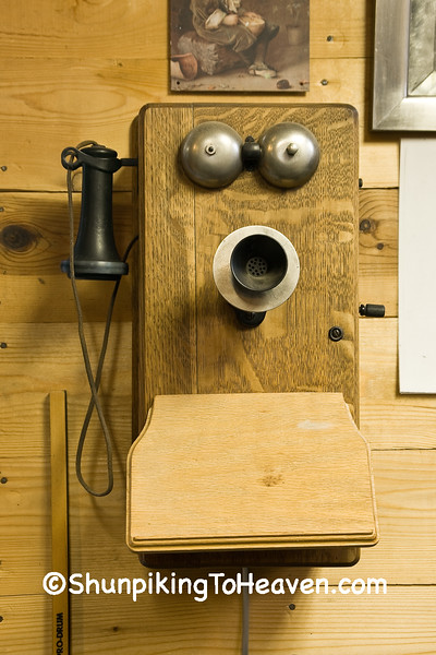 Working Antique Telephone at Ernie's Diamond Service Station, Filmore County, Minnesota