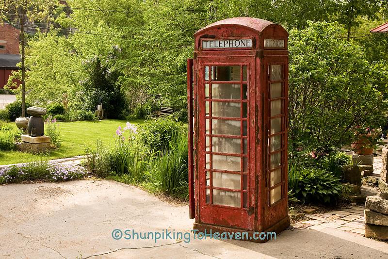 Old British Phone Booth, Iowa County, Wisconsin