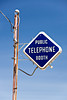 Old Telephone Booth Sign, Monroe County, Wisconsin