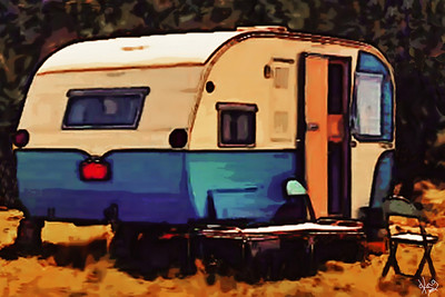 Grandparent's Travel Trailer 1960s