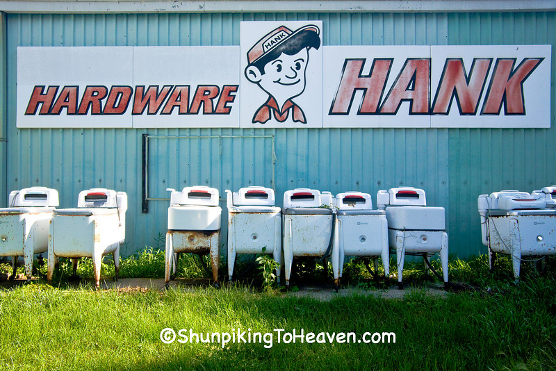"""All Washed Up"", Maytag Wringer Washing Machines Outside the Hardware Hank Store, Sac County, Iowa"