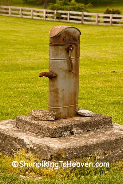 Rusty GEM Water Pump, Highland County, Ohio