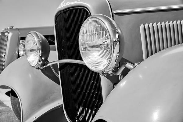 Front Bumper of an antique car