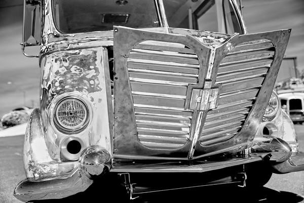 Front of an Antique van