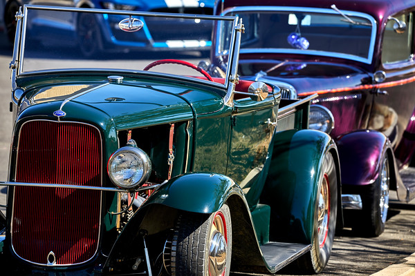 Antique Cars parked on the road