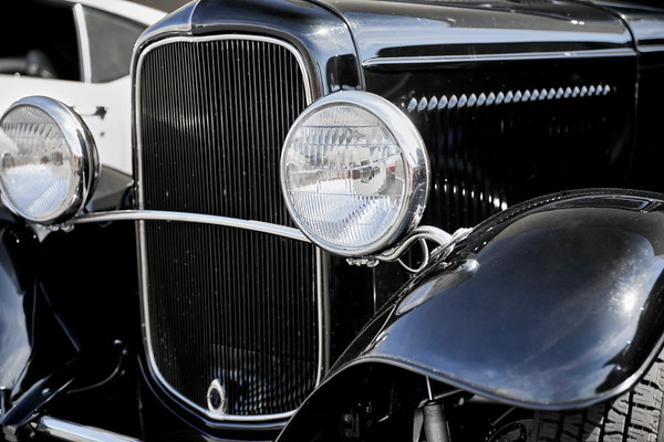 Front Grill of an Antique Car