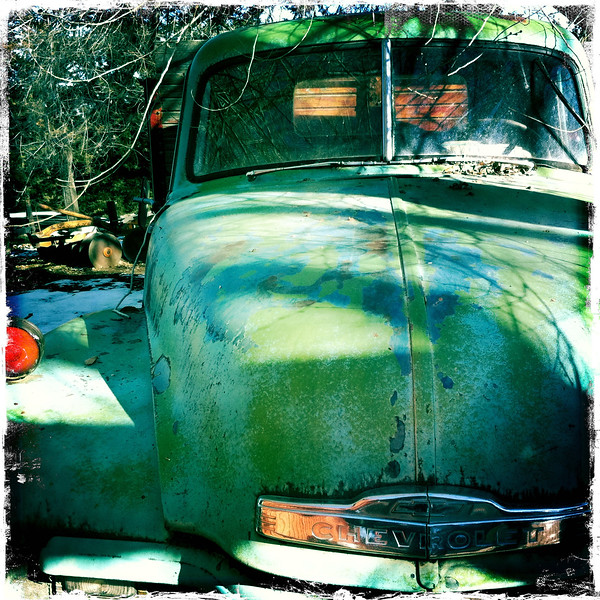 Old green Chevy