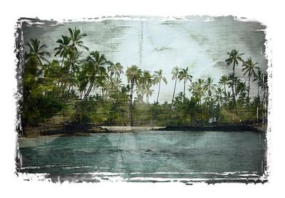 Place of Refuge. Big Island of Hawaii. Pu'uhonua O Honaunau National Park.
