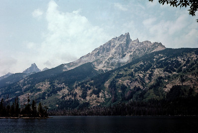 The Grand Teton viewed from Jenny Lake.