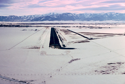 The airstrip at Driggs, Idaho. On approach.