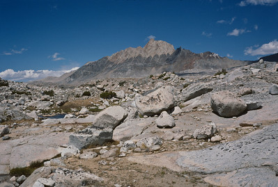 Mt. Humphreys. At 13, 986 it is the highest peak in the area west of Bishop.