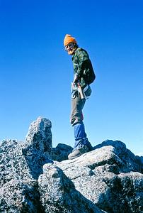 Denny enjoying the summit.