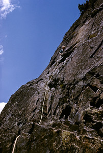 Catwalk pitch on the South Face. Straight forward mid-fifth class climbing. Easy stuff on great granite.
