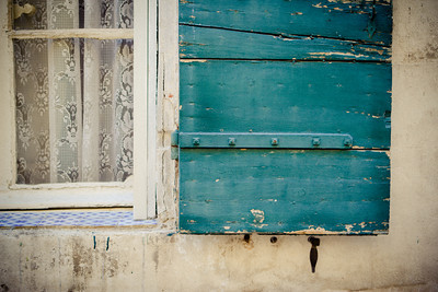 Teal Window in Provence