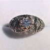 0.94ctw Vintage Old European Cut Diamond Dome Ring 19
