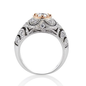 0.94ctw Vintage Two Tone Dome Ring