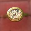 1.15ct Antique Oval Cut Diamond Chunky Bezel Ring 4