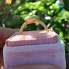 1.15ct Antique Oval Cut Diamond Chunky Bezel Ring 7
