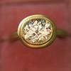 1.15ct Antique Oval Cut Diamond Chunky Bezel Ring 8