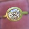 1.15ct Antique Oval Cut Diamond Chunky Bezel Ring 9