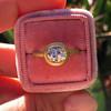 1.15ct Antique Oval Cut Diamond Chunky Bezel Ring 16
