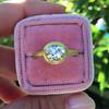 1.15ct Antique Oval Cut Diamond Chunky Bezel Ring 13