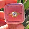 1.15ct Antique Oval Cut Diamond Chunky Bezel Ring 18