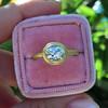 1.15ct Antique Oval Cut Diamond Chunky Bezel Ring 1