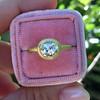 1.15ct Antique Oval Cut Diamond Chunky Bezel Ring 10
